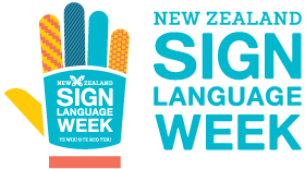 New Zealand Sign Language Week Logo